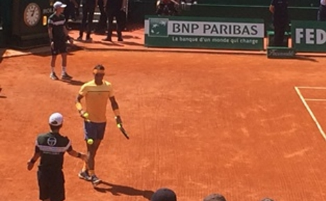 Rafael Nadal en finale contre Gaël Monfils à Monte-Carlo. Photo (c) Rima Ayoub