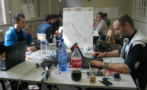A la ville ils travaillent à faire des visites numériques pour les architectes. Nouveau défi, ils souhaitent permettre la visite de la cité antique de Palmyre détruite. Photo (c) C. Szumilo