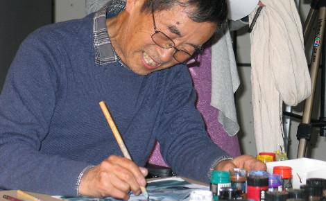 La Louvre Lens vallée recevait fin avril Shichiro Kobayashi pour un masterclass et une exposition de ses oeuvres qui ont fait le succés de dessins animés cultes. Photo (c) C. Szumilo