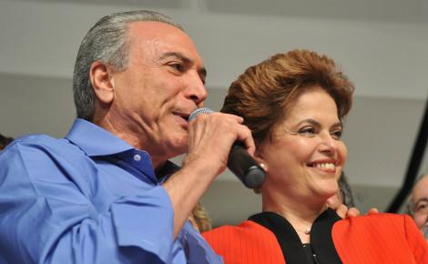 Michel Temer, nouveau président par intérim du Brésil, aux côtés de Dilma Rousseff, qu'il a contribué à destituer. Photo (c) Agência Brasil
