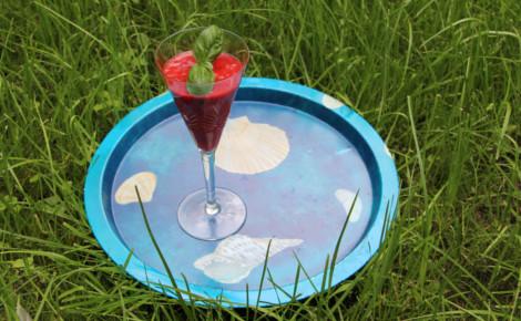 Soupe de fraises au basilic. Photo (c) Alice Dutray.