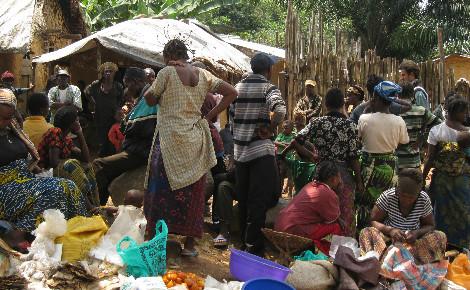 Des déplacés dans un camp au Nord-Kivu. Photo (c) Pierre Buingo, novembre 2015