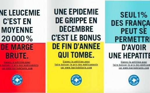 Trois des dix affiches de la campagne. (c) Médecins du Monde
