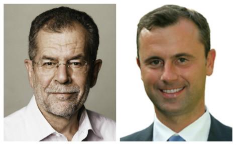 A gauche, Alexander Van der Bellen (photo © Austrian Green Party), à droite, Norbert Hofer (photo © Günther Billes).