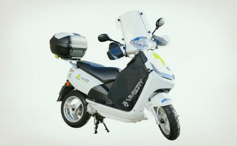 Scooter électrique en libre accès. Photo (c) Wattmobile