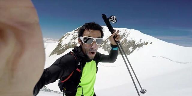 Kilian Jornet réalise deux ascensions du Mont-Blanc en 12h. Photo (c) DR