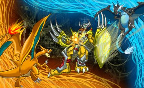 """Il semblerait qu'avec la sortie de """"Pokémon Go"""", la franchise des monstres de poche ait distancé celle des monstres digitaux. Illustration (c) H-Box"""