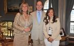 SAS Albert II entourée de Mesdames Coletti et Giovanetti - Photo (c) Palais Princier