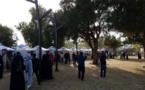 Stands, au Al Shaheed Park, des ambassades des pays ayant participé à la Libération du Koweït. Photo (c) Bulent Inan.