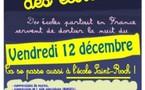 2ème « Nuit des écoles » à l'école St-Roch, le vendredi 12 décembre : une chaîne humaine pour protéger l'école contre les « menaces Darcos »