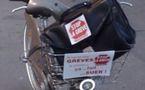 Les Vélibs aux couleurs de STOP LA GREVE
