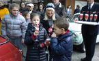 Journée Monégasque des Nez Rouges 2010: Les FIAT 500 d'époque à Monaco pour Les enfants de Frankie
