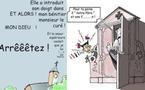 DESSIN DE PRESSE: EGALITE DES SEXES DANS L'EGLISE BELGE ?