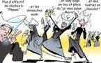 DESSIN DE PRESSE: Grève des 'Robes noires' en France