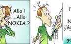 DESSIN DE PRESSE: NOKIA SOMBRE...