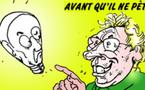 DESSIN DE PRESSE: Claude Guéant, l'homme à la tête de lampe à incandescence