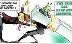 DESSIN DE PRESSE: Relèvement du plafond de la dette américaine, cela vole bas