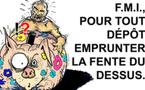 DESSIN DE PRESSE: DSK secoue la tirelire du monde