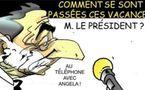 DESSIN DE PRESSE: Face à la crise il brillait par son absence