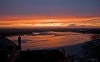 L'IMAGE DU JOUR – Coucher de soleil au Mont Saint Michel