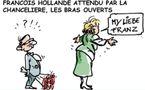 DESSIN DE PRESSE: Hollande attendu par Merkel