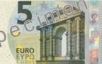 Actu à la une - Le nouveau billet de 5 euros