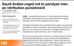 Arabie saoudite: Condamnation à la paralysie