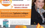"""Conférence Femmes 41 """"Parcours de femmes entrepreneures"""" par Typhaine Lebègue"""
