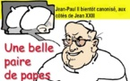 DESSIN DE PRESSE: Double canonisation en ligne de tir