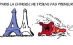 DESSIN DE PRESSE: Réplique de la Tour Eiffel en Chine
