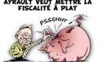 DESSIN DE PRESSE: Ayrault regonflé sur le dossier fiscalité