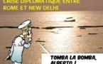 DESSIN DE PRESSE: Tension en Inde autour de l'affaire des marins italiens