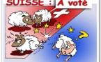 DESSIN DE PRESSE: Chasse au mouton noir en Suisse