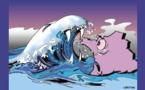DESSIN DE PRESSE: Vague bleue mais digue Marine?