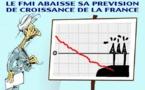 DESSIN DE PRESSE: La croissance française toujours en baisse pour le FMI