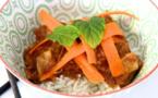 Porc gingembre et orange façon thaï