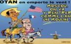 DESSIN DE PRESSE: Mêmes bâts, mêmes combats pour Hollande et Obama