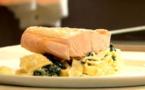 RECETTES EN VIDÉO - Tagliatelles à la crème d'épinards et saumon poché