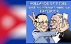 Hollande et son Fidel ami