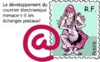 Le déclin des timbres postaux