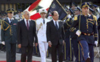 François Hollande en visite à Beyrouth