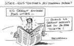 Déclin des journaux papier