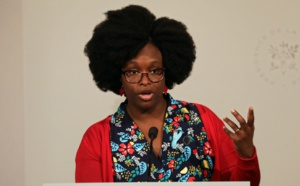 Sibeth Ndiaye, la Porte-parole du Gouvernement. Credit photo: Pinterest