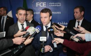 Emmanuel Macron et Ali Haddad (c) DR