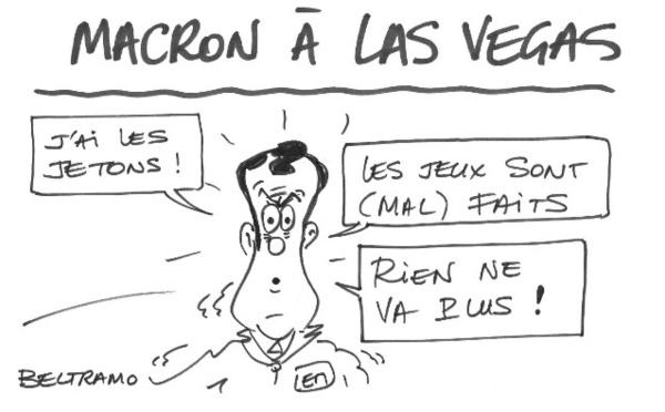 Macron a joué gros à Vegas