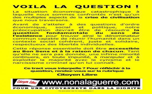 VOILA LA QUESTION !