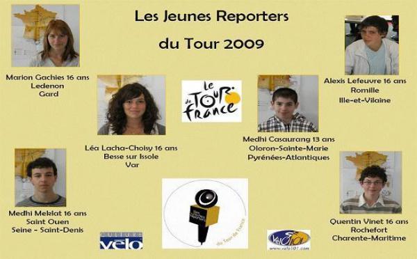 TOUR DE FRANCE: Six adolescents en route pour couvrir le Tour