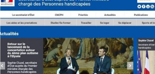 Le gouvernement français lance un site internet sur le handicap