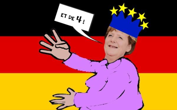 La reine Angela victorieuse
