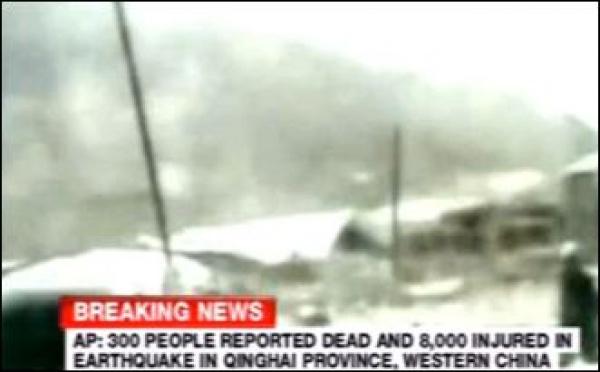 Séisme: des centaines de morts et des milliers de blessés en Chine